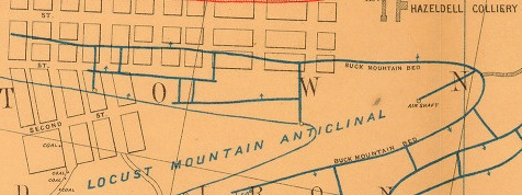 19th-century geological survey of Centralia, PA