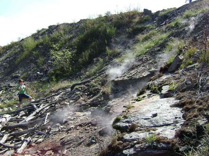 Steam from a subsidence near Centralia, PA